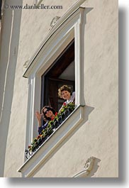 angela, angela lo re, europe, groups, hungary, lori, people, vertical, waving, windows, womens, photograph