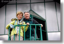 couples, emotions, europe, green, groups, harvey linda weiner, harveys, horizontal, hungary, lindas, men, people, rails, senior citizen, smiles, womens, photograph