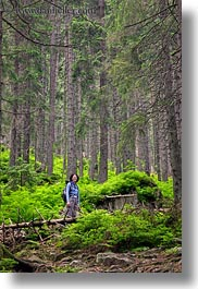 brunette, colors, emotions, europe, forests, green, groups, hair, hungary, lori, people, smiles, vertical, womens, photograph