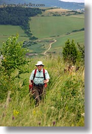 clothes, europe, groups, hats, hiking, hungary, marilyn philip warden, men, people, philip, senior citizen, sunglasses, vertical, photograph