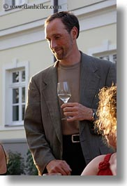 emotions, europe, foods, glasses, groups, hungary, men, people, ron, ron seely, smiles, vertical, white wine, wine glass, wines, photograph