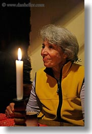 candles, europe, gray, groups, hair, hungary, people, senior citizen, vertical, yona, yona davis, photograph