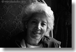 black and white, content, emotions, europe, gray, groups, hair, happy, horizontal, hungary, people, seated, senior citizen, womens, yona, yona davis, photograph