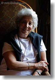 emotions, europe, gray, groups, hair, happy, hungary, people, seated, senior citizen, smiles, vertical, womens, yona, yona davis, photograph