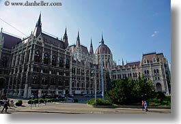 budapest, buildings, domes, europe, horizontal, hungary, parliament, structures, photograph
