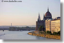 budapest, buildings, domes, europe, horizontal, hungary, parliament, rivers, structures, views, photograph