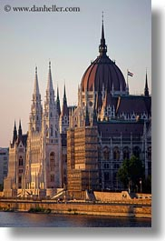 budapest, buildings, domes, europe, hungary, parliament, rivers, structures, vertical, views, photograph