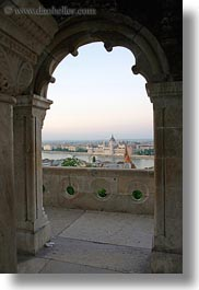 arches, budapest, buildings, europe, hungary, parliament, vertical, views, photograph