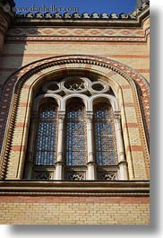 archways, budapest, buildings, europe, exteriors, hungary, structures, synagogue, vertical, windows, photograph