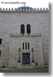 budapest, buildings, doors, europe, exteriors, hungary, jewish, religious, synagogue, temples, vertical, walls, photograph
