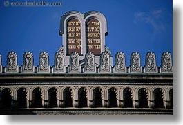 budapest, buildings, commandments, europe, exteriors, horizontal, hungary, synagogue, ten, photograph
