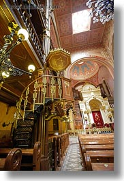 budapest, buildings, europe, hungary, interiors, jewish, religious, slow exposure, synagogue, temples, vertical, photograph