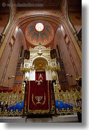 budapest, buildings, europe, hungary, interiors, jewish, religious, synagogue, temples, vertical, photograph