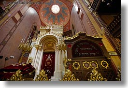 budapest, buildings, europe, horizontal, hungary, interiors, jewish, religious, synagogue, temples, photograph