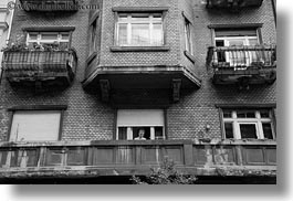 black and white, budapest, buildings, europe, horizontal, hungary, photograph