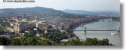 budapest, buildings, castle hill, castles, cityscapes, europe, hills, horizontal, hungary, nature, panoramic, rivers, structures, water, photograph