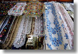 budapest, central market hall, colorful, design, europe, fabrics, horizontal, hungarian, hungary, photograph