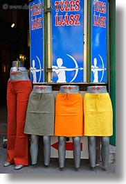 budapest, central market hall, colorful, europe, hungary, skirts, vertical, photograph