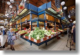 budapest, central market hall, europe, foods, fruits, horizontal, hungary, people, senior citizen, stands, womens, photograph