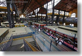 budapest, central market hall, europe, halls, horizontal, hungary, market, photograph