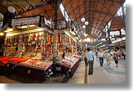 budapest, central market hall, europe, gifts, horizontal, hungary, shops, tourists, photograph