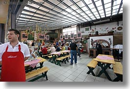 budapest, central market hall, europe, horizontal, hungary, men, people, restaurants, waiter, photograph