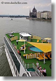 boats, budapest, cruise, danube, europe, hungary, riverboat cruise ship, rivers, ships, vertical, photograph
