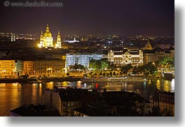 budapest, buildings, cityscapes, danube, europe, horizontal, hungary, long exposure, nite, structures, photograph