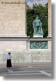 arts, bronze, budapest, europe, heroes square, hungary, landmarks, materials, monument, statues, vertical, warriors, womens, photograph