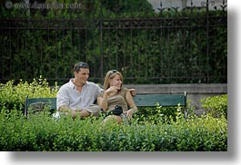 benches, budapest, conceptual, couples, emotions, europe, horizontal, hungary, men, park, people, romantic, smiles, womens, photograph