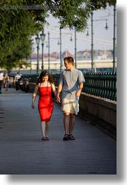 budapest, conceptual, couples, dresses, emotions, europe, hungary, men, people, red, romantic, vertical, walking, womens, photograph