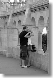 black and white, budapest, conceptual, couples, emotions, europe, hungary, men, people, romantic, vertical, womens, photograph