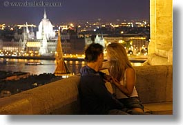 budapest, cityscapes, conceptual, couples, emotions, europe, horizontal, hungary, men, nite, people, romantic, slow exposure, womens, photograph
