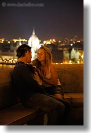 budapest, cityscapes, conceptual, couples, emotions, europe, hungary, men, nite, people, romantic, slow exposure, smiles, vertical, womens, photograph