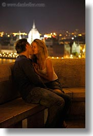 budapest, cityscapes, conceptual, couples, emotions, europe, hungary, men, nite, people, romantic, slow exposure, vertical, womens, photograph