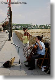 budapest, cello, couples, europe, hungary, men, people, vertical, violins, womens, photograph