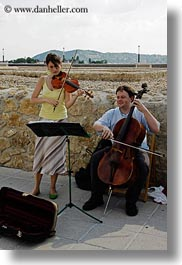 budapest, cello, couples, emotions, europe, hungary, men, people, smiles, vertical, violins, womens, photograph