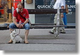 benches, budapest, dogs, europe, horizontal, hungary, men, people, photograph