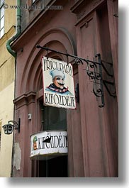 budapest, europe, hungary, restaurants, signs, vertical, photograph