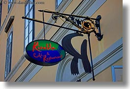 budapest, cafes, europe, horizontal, hungary, rivalda, signs, photograph