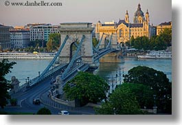 bridge, budapest, cityscapes, europe, horizontal, hungary, structures, szechenyi chain bridge, photograph