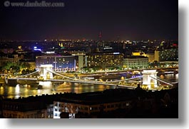 bridge, budapest, europe, horizontal, hungary, long exposure, nite, span, structures, szechenyi chain bridge, photograph