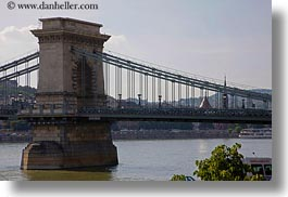 bridge, budapest, europe, horizontal, hungary, structures, szechenyi chain bridge, towers, photograph