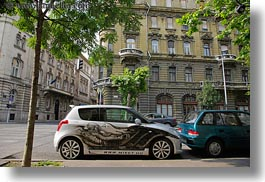 aliens, arts, budapest, cars, europe, horizontal, hungary, paintings, transportation, photograph