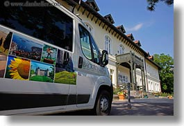 backroads, europe, grof degenfeld castle hotel, horizontal, hotels, hungary, transportation, vans, photograph