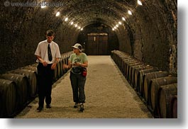 barrels, cellar, europe, grof degenfeld castle hotel, horizontal, hungary, people, wines, womens, photograph