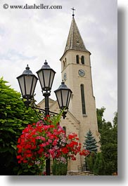 churches, europe, flowers, hungary, tarcal, vertical, photograph