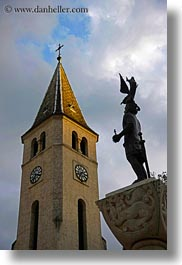 churches, europe, hungary, statues, tarcal, vertical, photograph