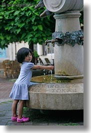 asian, childrens, europe, fountains, girls, hands, hungary, little, people, tarcal, vertical, washing, water, photograph