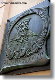 bethlen, europe, gabor, hungary, relief, signs, tarcal, vertical, photograph